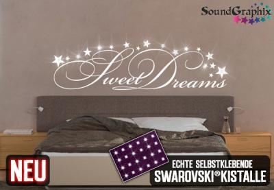 soundgraphix wandtattoos und autoaufkleber wandtattoo sweet dreams. Black Bedroom Furniture Sets. Home Design Ideas
