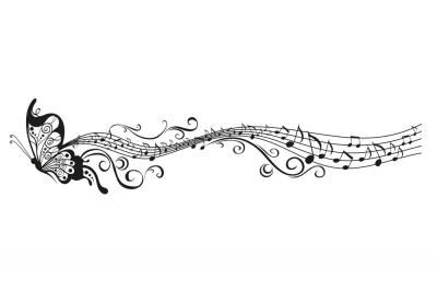 Soundgraphix wandtattoos und autoaufkleber wandtattoo for Tattoo noten