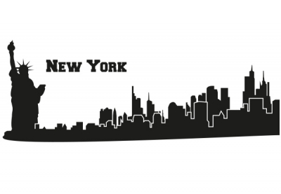 soundgraphix wandtattoos und autoaufkleber wandtattoo skyline new york. Black Bedroom Furniture Sets. Home Design Ideas