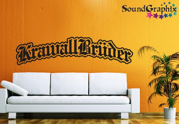 KrawallBrüder Wandtattoo   Logo