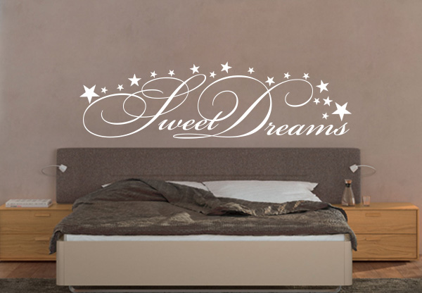 soundgraphix wandtattoos und autoaufkleber wandtattoo sweet dreams. Black Bedroom Furniture Sets. Home Design Ideas