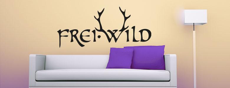 frei wild wandtattoo prinsenvanderaa. Black Bedroom Furniture Sets. Home Design Ideas